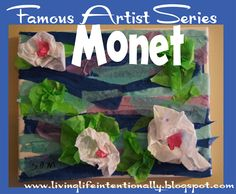 Famous Artist: Monet - Homeschool kids will love learning about famous artists with hands on art projects, free printable report, and books for kids.