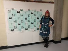 Screen printed fabric and apron