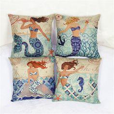 Luxury Mermaid Style Cushion Cover