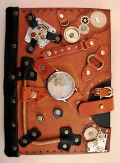 leather journal with steampunk elements