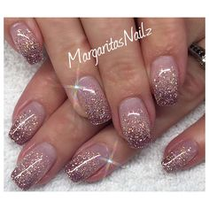 Nail Art Ombre nails might be fantastic match to your clothes or accessories. The brief oval nails w Bride Nails, Wedding Nails, Wedding Pedicure, Fun Nails, How To Do Nails, Chellac Nails, Acrylic Nails Glitter Ombre, Gliter Nails, Nail Art Designs
