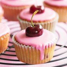 Small fruits make simple iced cupcakes pretty instantly and aren't hugely expensive.