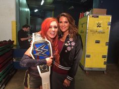 New Smackdown's Womens Champ Becky Lynch with Lita at Backlash September 11th 2016