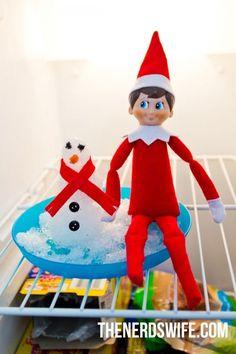 Easy Elf on the Shelf Ideas Elf On The Self, The Elf, Awesome Elf On The Shelf Ideas, Elf Auf Dem Regal, Santa's Little Helper, Christmas Elf, Christmas Ideas, Fun Games, Boy Or Girl