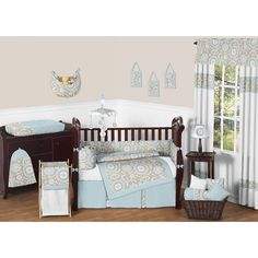 This darling baby bedding by Sweet Jojo Designs will create a serene and sophisticated look for your nursery. This classic gender neutral crib bedding set uses a sensational collection of cotton fabrics for comfort and convenience.
