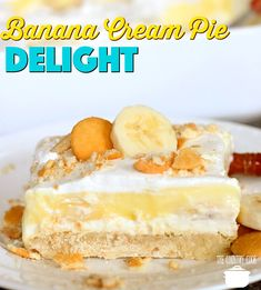 Banana Cream Pie Delight recipe from The Country Cook