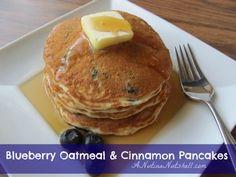 Best Ever Blueberry Oatmeal & Cinnamon Pancakes #YayOats