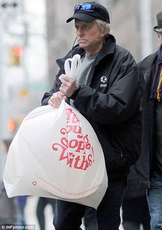 Michael Douglas goes shopping