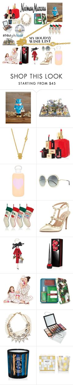 """The Holiday Wish List With Neiman Marcus: Contest Entry"" by iambobthequeen ❤ liked on Polyvore featuring Neiman Marcus, Glässer, Christian Lacroix, Sydney Evan, Yves Saint Laurent, bkr, Chloé, Jonathan Adler, Valentino and Soffieria de Carlini"
