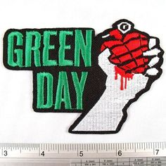 Green Day American Punk Rock Band Iron on Patch Embroidered Racing DIY... ❤ liked on Polyvore featuring bands, green day and patch