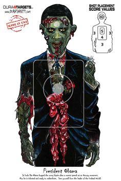 Обама-зомби. Obama the zombie.