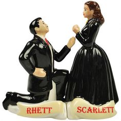 Gone With The Wind salt and pepper shakers
