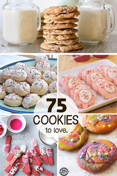 75 Christmas Cookies That You Have To Try This Holiday Season! 75 Christmas Cookies Recipes that you must try making this holiday season, and beyond! Gluten-free, sugar-free, and no-bake options included! Wafer Cookies, Galletas Cookies, Holiday Cookies, Holiday Treats, Christmas Treats, Holiday Recipes, Summer Cookies, Baby Cookies, Heart Cookies