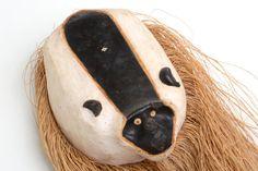 Mascara africana de madera arte africano máscara de por Brocantebcn