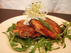 Vegan Root Vegetable Fritters with Herbed Caper Cashew Aioli