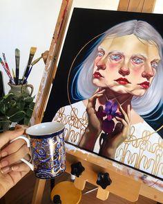 ARTIST: Ruth Speer (@septemberwildflowers) on Instagram// Beautiful oil painting!!