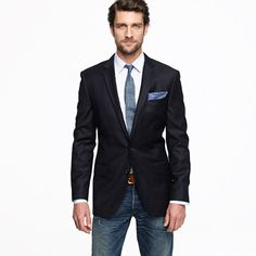 Ludlow two-button blazer with center vent and a chambray tie? yes, please
