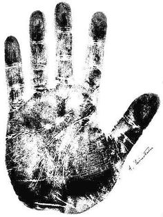 handprints are so simple and unique. i definitely want a framed one like this for every member of my family