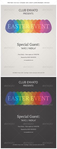 Easter Event Poster / Flyer — Photoshop PSD #minimalist #retro • Available here → https://graphicriver.net/item/easter-event-poster-flyer/6960094?ref=pxcr