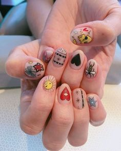 50 Beautiful Nail Art Designs & Ideas Nails have for long been a vital measurement of beauty and Edgy Nails, Grunge Nails, Funky Nails, Dope Nails, Stylish Nails, Funky Nail Art, Nail Design Stiletto, Nail Design Glitter, Minimalist Nails