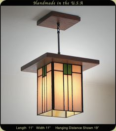 Prairie Style light fixture features warm Earth tones.