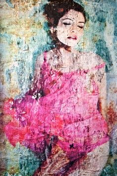 Title: Beautiful Decay (Collage: Paint, paper, wood) // Artist: Anyes Galleani (Los Angeles, CA, United States) // Saatchi Online. Decoupage On Canvas, Painting Collage, Paintings, Painted Paper, Unique Image, Texture Art, Art Journal Inspiration, Art Techniques, Figurative Art