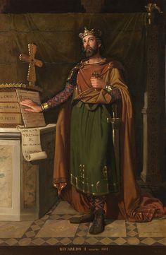 Recaredo I, rey de los Visigodos. († 601), Hijo del rey Leovigildo y de su primera esposa,