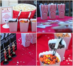 Make your own popcorn treat bar perfect for an Oscar party