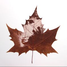 "leaf vein carving ""child-and-dog"" - Primitives By victor"