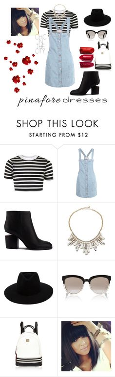 """""""Pinafores"""" by belen-lillo on Polyvore featuring moda, Topshop, Boohoo, Alexander Wang, ABS by Allen Schwartz, rag & bone, Christian Dior, River Island, pinafores y 60secondstyle"""
