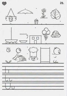 ÍRÁSELEMEK GYAKORLÁSA - webtanitoneni.lapunk.hu Tracing Worksheets, Preschool Worksheets, Toddler Preschool, Pre School, Activities For Kids, Education, Signs, Paper, Motor Skills