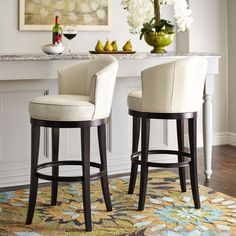 Isaac Swivel Bar Stool - Ivory