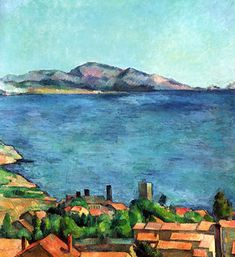 Paul Cezanne - The Bay of Marseilles, Seen from L& 1885 at New York Metropolitan Art Museum Listed in the book - 50 Impressionism Paintings You Should Know Paul Gauguin, Cezanne Art, Paul Cezanne Paintings, Post Impressionism, Henri Matisse, Art World, Monet, Landscape Paintings, Impressionist Paintings