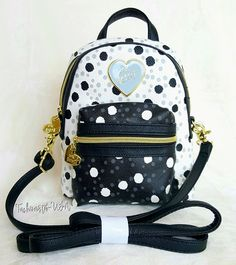 Betsey Johnson Mini Convertible Crossbody Backpack - DOTS #BetseyJohnson #BackpackStyle