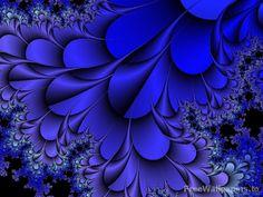 cobalt blue feather art