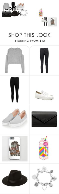 """""""Winter Coffe"""" by mikukitsune ❤ liked on Polyvore featuring McQ by Alexander McQueen, Boohoo, Topshop, Balenciaga, Lack of Color and ChloBo"""