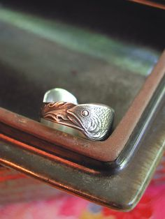 I love this designer! SIZE 7 Fish Amazing Ring Band Sterling Silver From Rare Vintage Spoon Pisces Gift. $69.00, via Etsy.