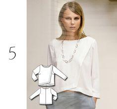 five wrap blouse - maybe make it a little longer