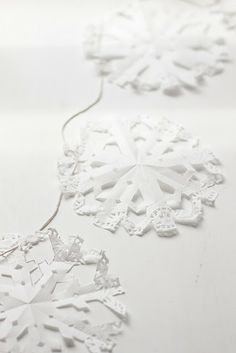 I love snowflakes and doilies.  Just perfect and easy and pretty.
