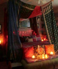 Babylon Sisters: Vintage Sari Bed Canopy