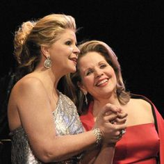 Two longtime colleagues, mezzo Susan Graham (left) and soprano Renee Fleming.