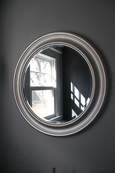 possible dark grey color for my room!  Wall color: Cliffside Grey in Benjamin Moore Aura Bath & Spa.