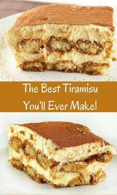 The Best Tiramisu you'll ever make is easier than you think! this classical dessert is amazingly delicious.askchefdennis… The Best Tiramisu you'll ever make is easier than you think! this classical dessert is amazingly delicious. Brownie Desserts, Easy Desserts, Delicious Desserts, Easy Italian Desserts, Best Tiramisu Recipe, Tiramisu Cake, Tiramisu Recipe With Cream Cheese, Authentic Tiramisu Recipe, Food Cakes