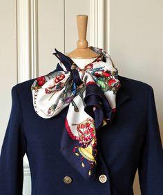 Jacquard silk  scarf...I do wish I knew how to tie this one.