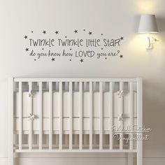 Baby Nursery Quote Wall Sticker Twinkle Twinkle Little Star Quote Wall Decal Kids Room Wall Quotes From iWall Sticker at Aliexpress