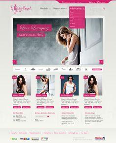 feminine ecommerse web design - #web #design