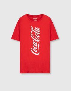 Tricou logo Coca-Cola - Tricouri - Îmbrăcăminte - Bărbați - PULL&BEAR România