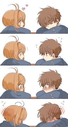 Sakura and Syaoran being really cute together lol