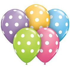 Decorate with these Assorted Big Polka Dot Latex Balloons! #partydecor