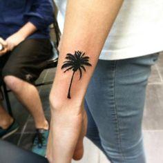Blackwork Palm on Wrist by Branden Martin
